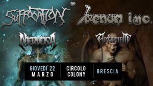 Venom Inc. & Suffocation @ Circolo Colony, March 22, 2018