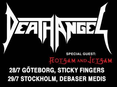 Death Angel and Flotsam & Jetsam @ Debaser Medis Stockholm - July 29, 2015