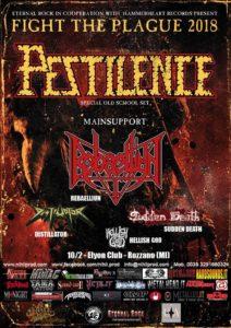 Pestilence @ Elyon club Milan on Feb. 10 2018